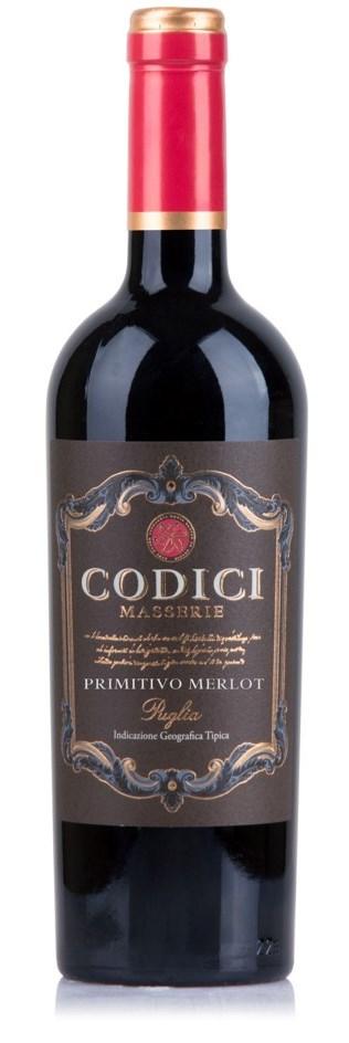 Codici Primitivo-Merlot Puglia 75cl