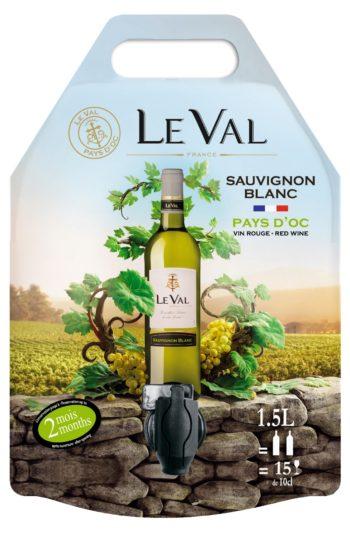 Le Val Sauvignon Blanc IGP Pays d'Oc 150cl pouch