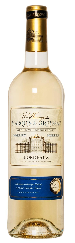 L'Heritage Du Marquis de Gr. Blanc Bordeaux Moel. 75cl