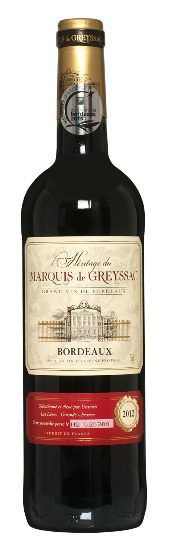L'Heritage Du Marquis de Greyssac Rouge Bordeaux 75cl