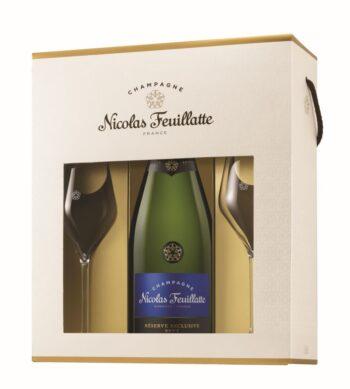 Nicolas Feuillatte Reserve Exclusive Brut 75cl + 2 glasses