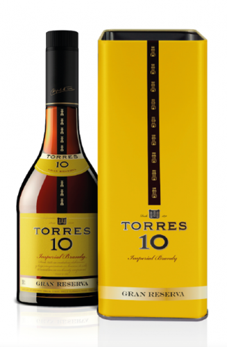 Torres 10 Brandy 70cl TIN box