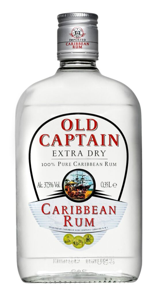 Old Captain Extra Dry Caribbean White Rum 35cl