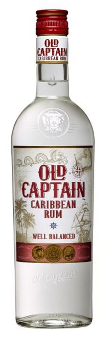 Old Captain Extra Dry Caribbean White Rum 70cl