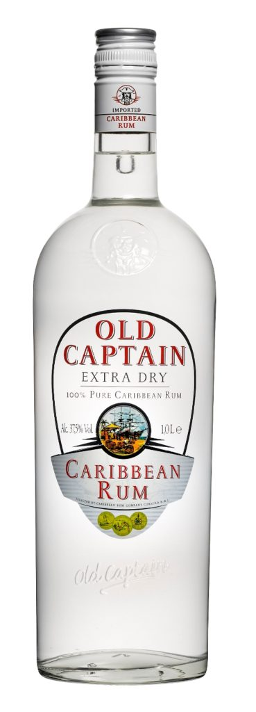 Old Captain Extra Dry Caribbean White Rum 100cl