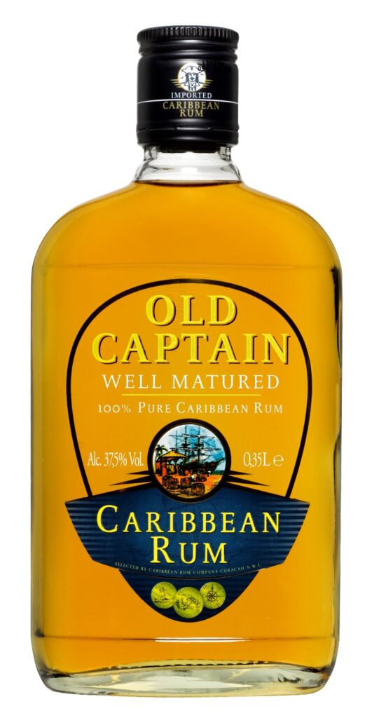 Old Captain Well Mat. Caribbean Brown Rum 35cl