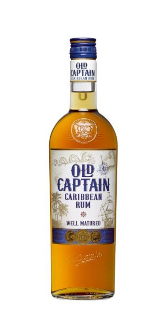 Old Captain Well Mat. Caribbean Brown Rum 70cl