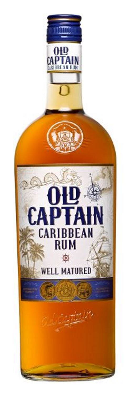 Old Captain Well Mat. Caribbean Brown Rum 100cl