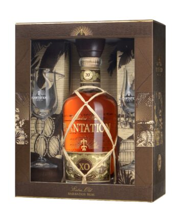 Plantation XO 20th Anniversary Rum 70cl +glasses giftbox