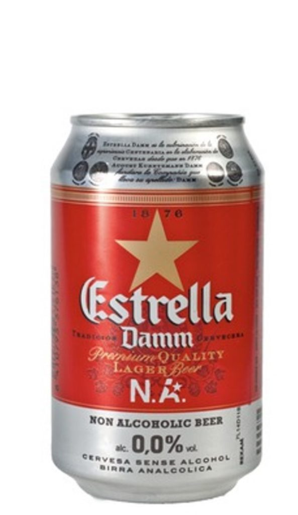 Estrella Damm Alcohol-Free Beer 33cl CAN