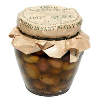 Frantoio Taggiasca oliivid ürtidega 210g